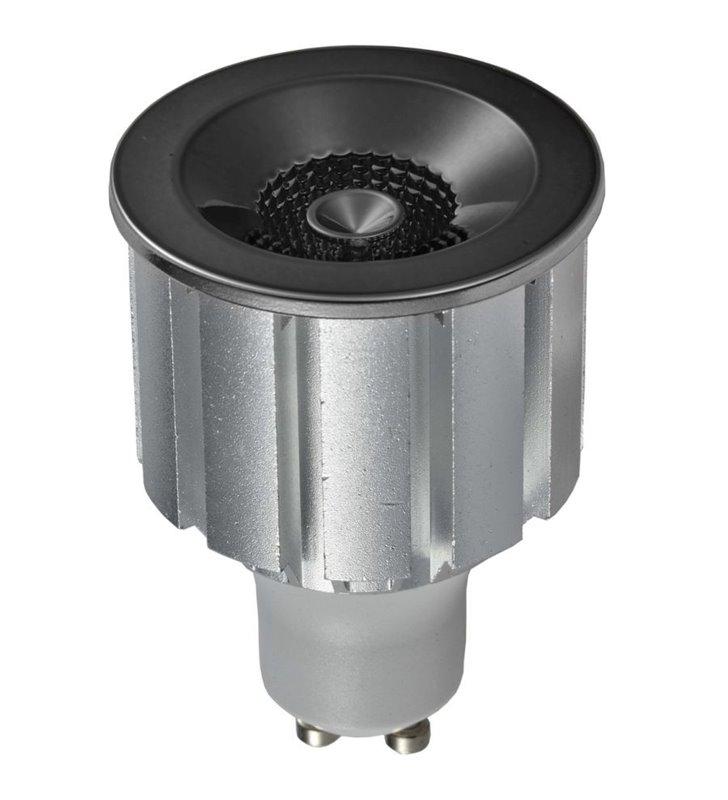 Czarna chromowana dekoracyjna żarówka LED Elegant GU10 7W 4000K 230V