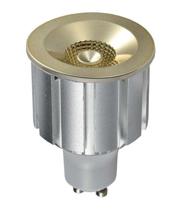 Złota ozdobna żarówka LED Elegant GU10 7W 3000K 230V