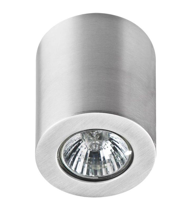 Aluminiowa lampa sufitowa walec nieruchoma Boris