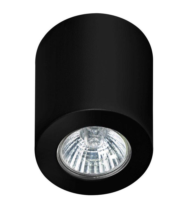 Lampa sufitowa Boris czarna walec natynkowa