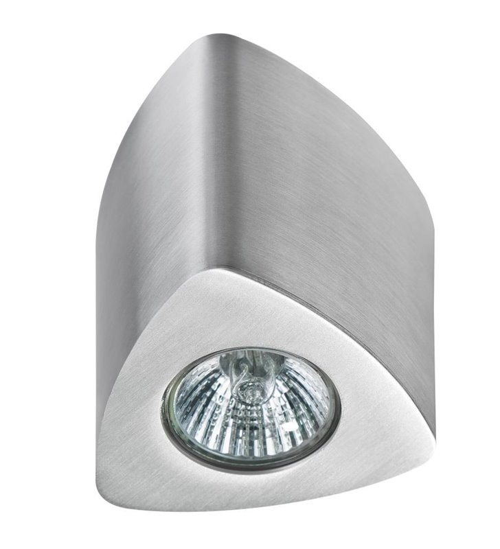 Lampa sufitowa natynkowa Dario kolor aluminium trójkątna