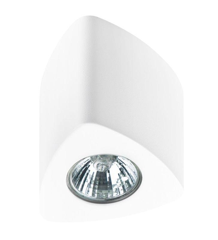 Lampa sufitowa Dario biała natynkowa trójkątna