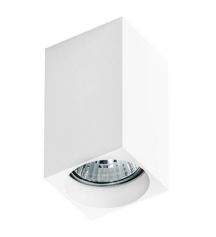 Lampa sufitowa kwadratowa typu downlight Mini Square biała - OD RĘKI