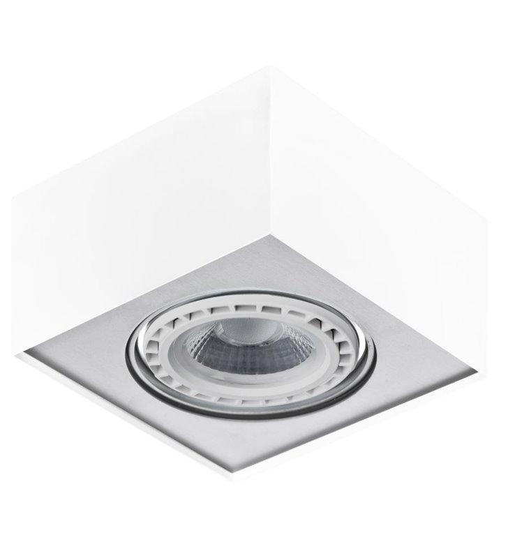 Biało aluminiowa lampa sufitowa plafon Paulo oprawa ruchoma