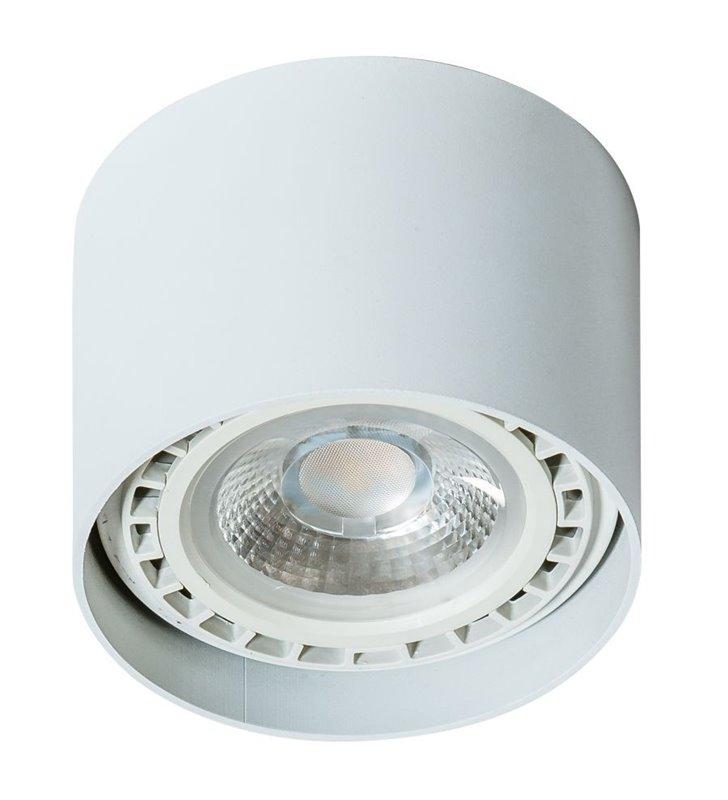 Biała lampa sufitowa downlight walec Eco Alix