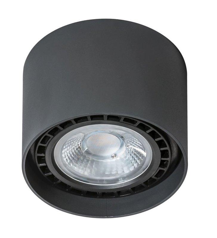 Czarna okrągła oprawa sufitowa typu downlight Eco Alix
