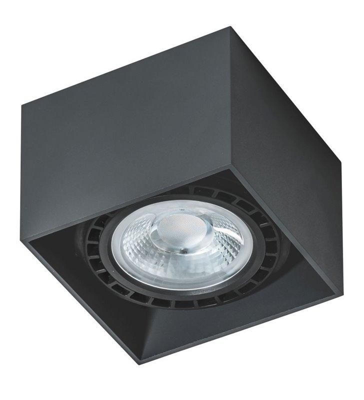 Lampa sufitowa downlight Eco Alex czarna kwadratowa