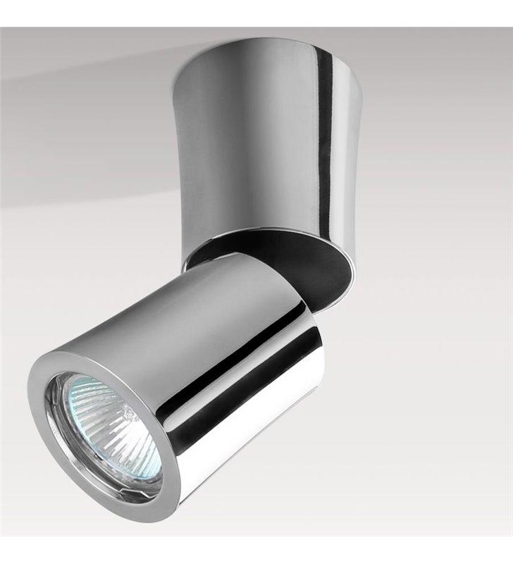 Ruchoma nowoczesna lampa sufitowa downlight Lino chrom