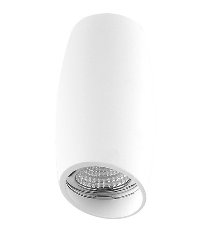 Nowoczesna nieruchoma lampa typu downlight Vasko biała żarówka GU10