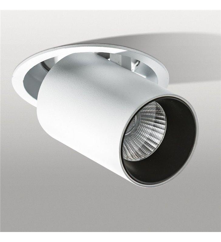Lampa sufitowa do wbudowania downlight Luna biała wiele możliwości ustawienia klosza