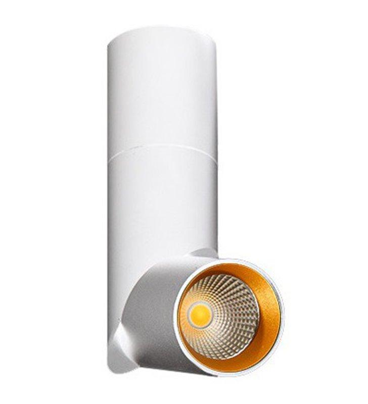 Lampa sufitowa Santos biała ze złotym środkiem ruchoma