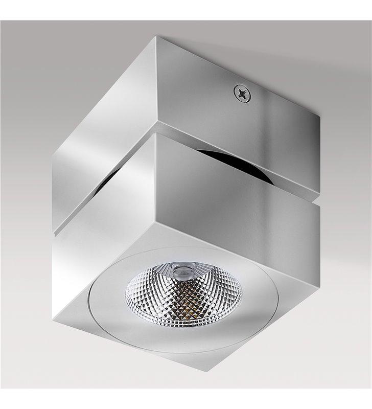 Lampa sufitowa Diado LED chrom kwadratowa nowoczesna z ruchomym kloszem