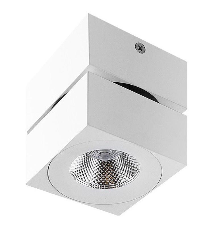Diado LED biała matowa kwadratowa ruchoma lampa sufitowa