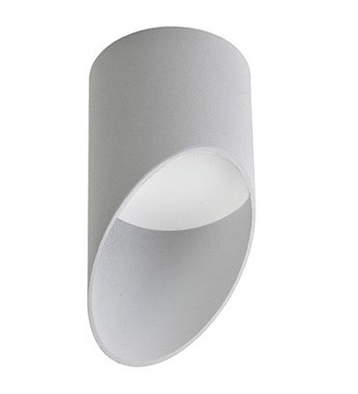 Asymetryczna lampa sufitowa Momo biała matowa średnica 8cm