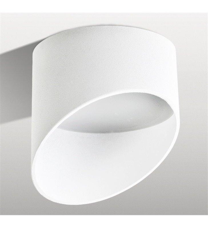 Oprawa sufitowa downlight nowoczesna biała matowa  Momo średnica 14cm asymetryczny klosz