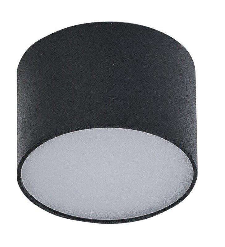 Mały czarny plafon Monza 80 okrągły LED naturalna barwa światła 4000K