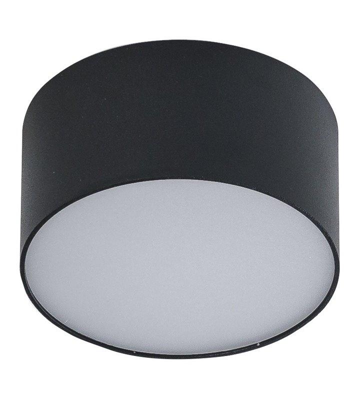 Plafon Monza 115 LED mały okrągły czarny naturalna barwa światła 4000K