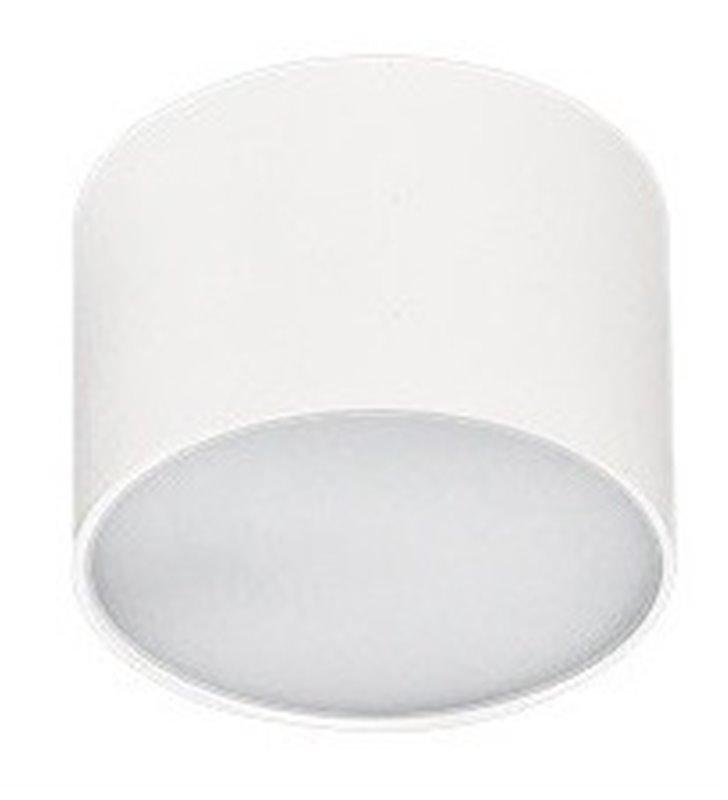 Plafon Monza 80 mały okrągły  w kolorze białym LED naturalna barwa światła