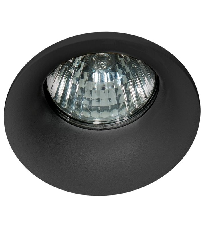Czarna nieruchoma lampa punktowa łazienkowa Ivo IP54