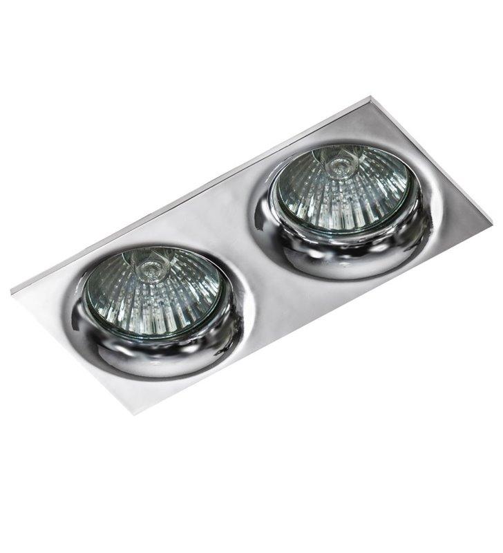 Podwójna lampa punktowa łazienkowa w kolorze chrom  Ivo IP54