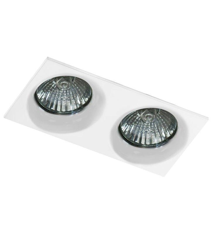 Podwójna biała lampa punktowa do łazienki Ivo IP54