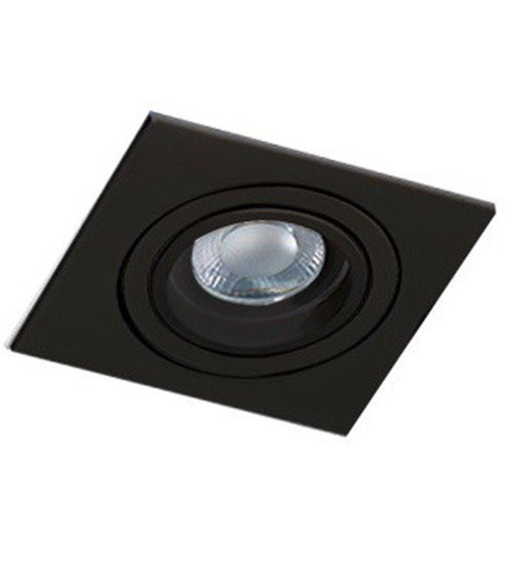 Lampa do wbudowania Caro czarna kwadratowa