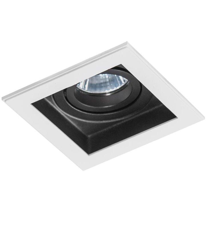 Kwadratowa oprawa punktowa Minorka biało czarna