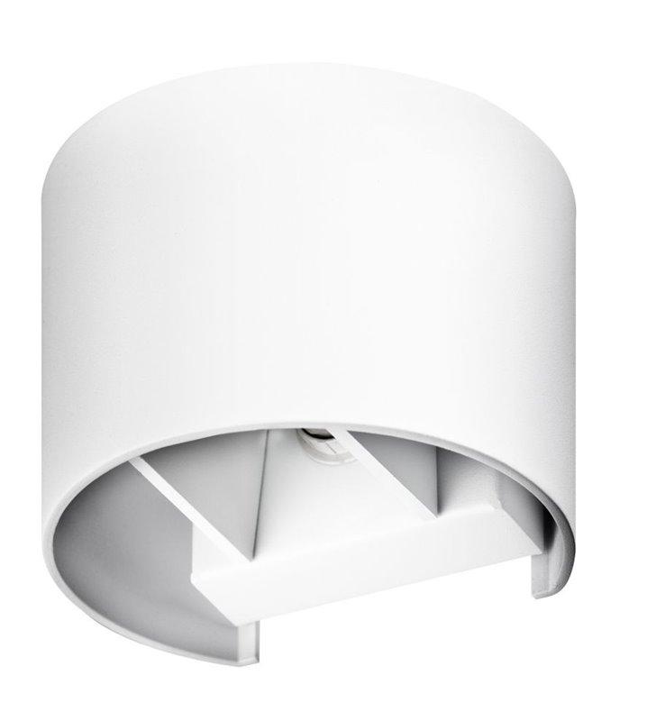 Nowoczesna biała lampa ścienna Leticia2 do wnętrz minimalistycznych industrialnych