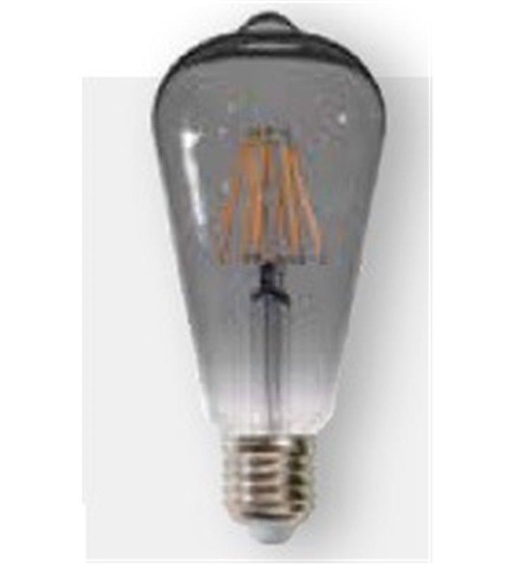 Żarówka ozdobna z przyciemnianym szkłem widoczny żarnik Decorative Smoke Glass LED E27 6W 2200K