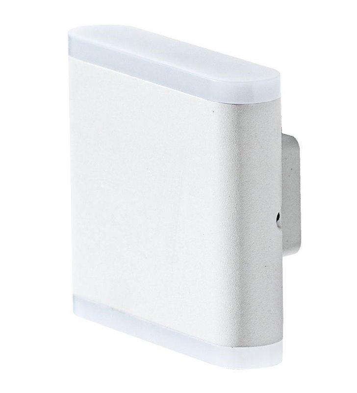 Nowoczesny biały kinkiet z metalu Vigo LED do wnętrz w stylu minimalistycznym industrialnym