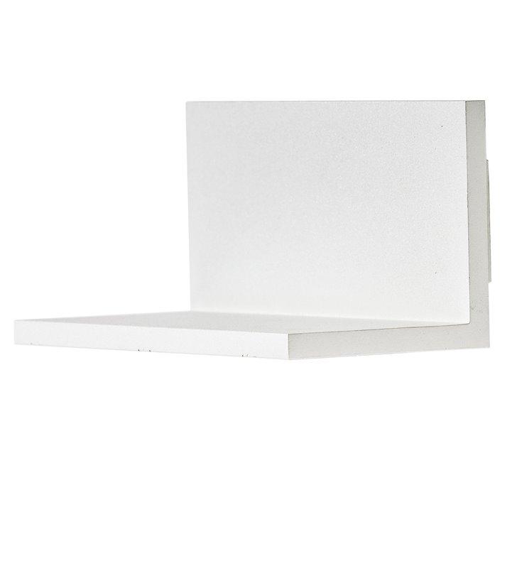Lampa ścienna Latona LED biała z jednokierunkowym strumieniem światła do wnętrz nowoczesnych minimalistycznych