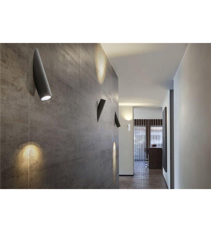 Lampa ścienna Torch czarna 2 sposoby montażu styl nowoczesny techniczny industrialny