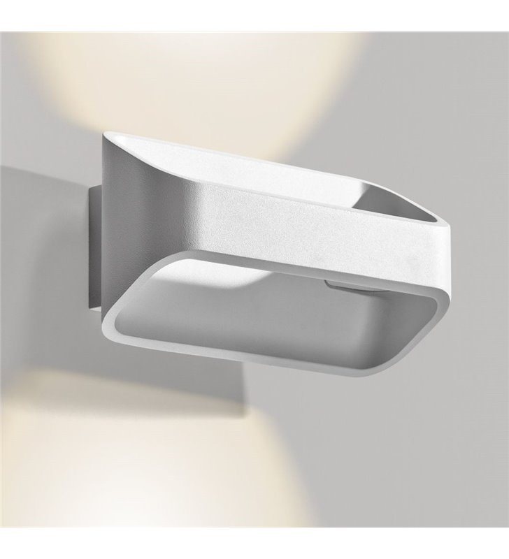 Kinkiet Cono LED biały nowoczesny strumień światła góra i dół styl techniczny