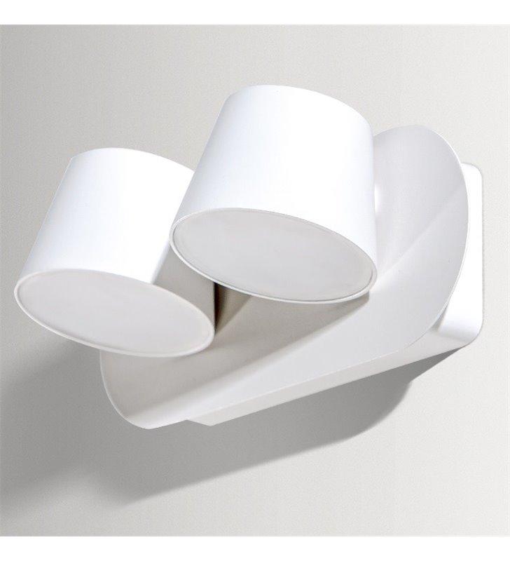 Podwójny biały kinkiet z ruchomymi kloszami Ramona LED