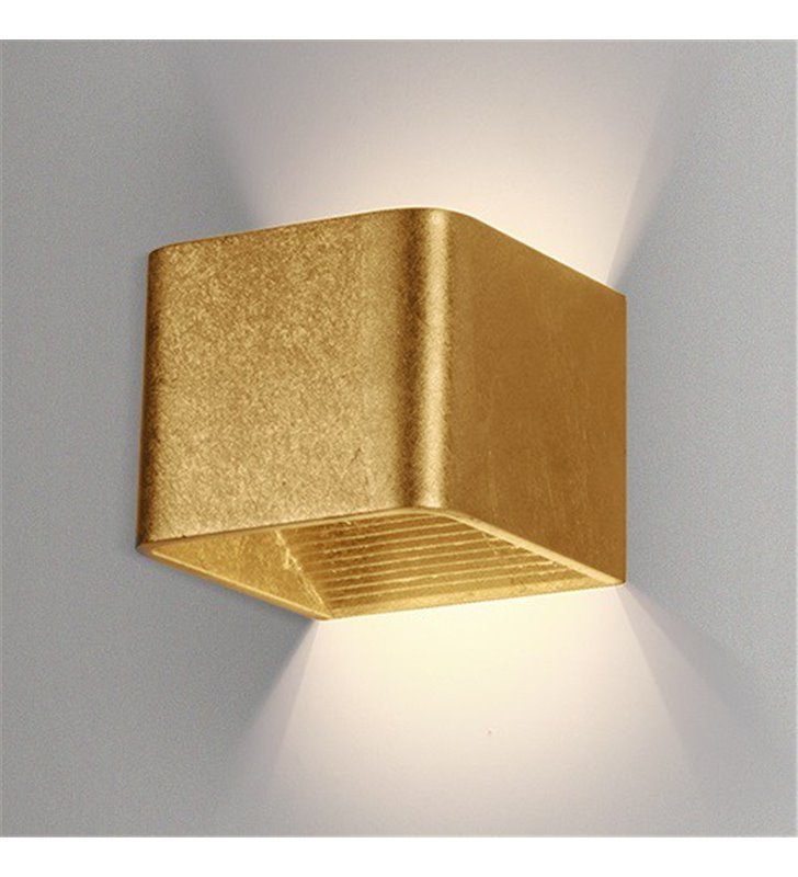 Kinkiet Felix LED mały nowoczesny złoty