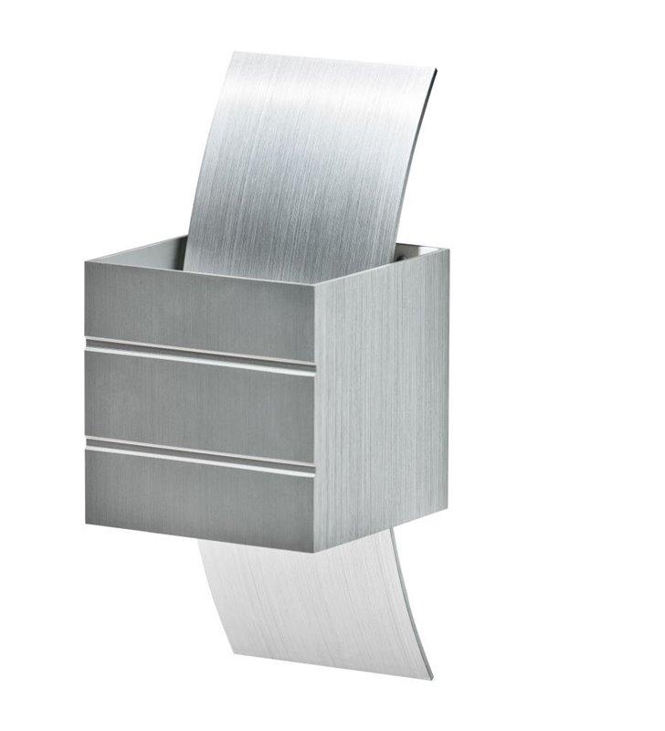 Nowoczesny kinkiet w stylu technicznym Vidal kolor aluminium