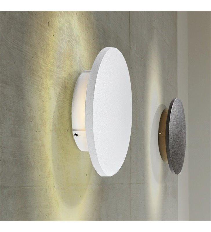 Okrągła nowoczesna lampa ścienna Ancona LED biała o średnicy 18cm