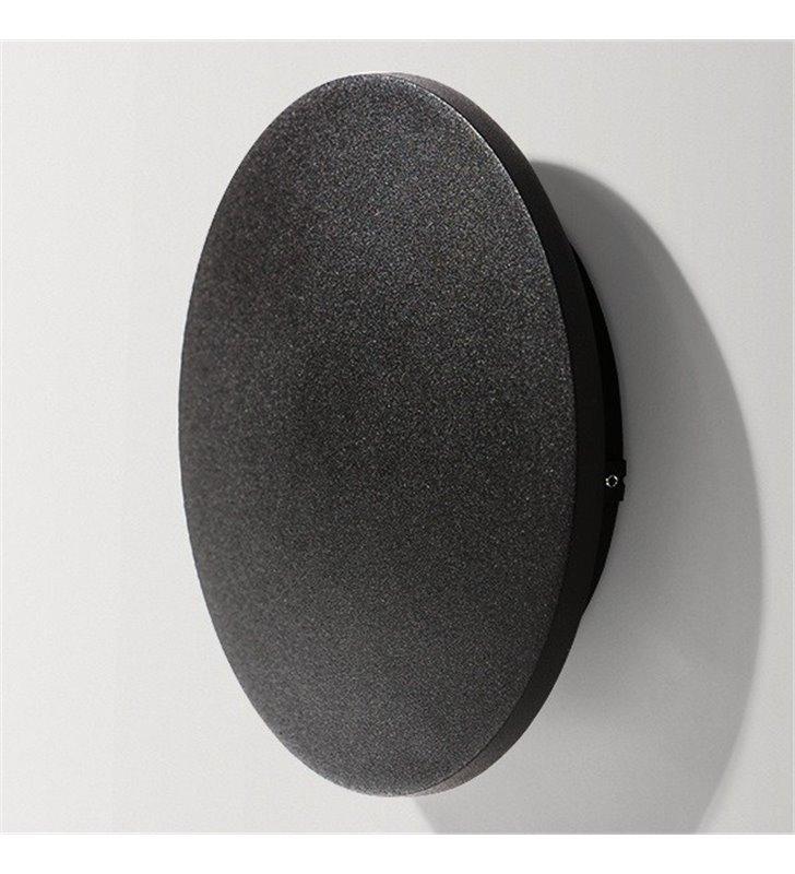 Kinkiet Ancona LED czarny okrągły średnica 13,5cm do wnętrz nowoczesnych industrialnych minimalistycznych