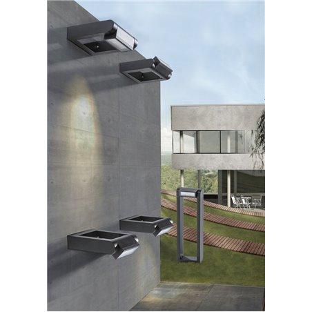 Słupek ogrodowy Frame grafitowy nowoczesny z ruchomym kloszem wysokość 70cm