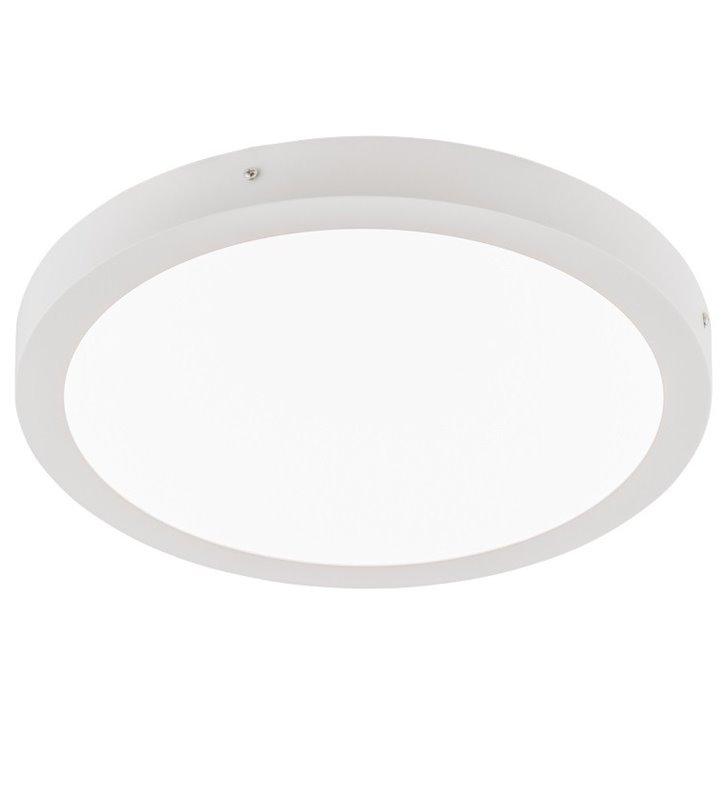Okrągły nowoczesny biały plafon Glissy Round 400