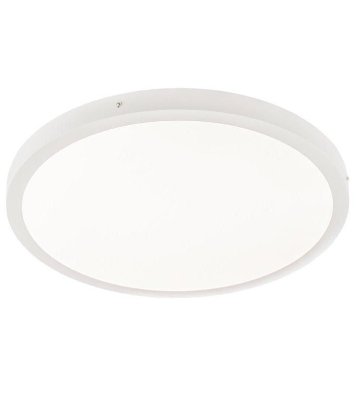 Plafon Glissy Round 600 biały okrągły nowoczesny ciepła barwa światła LED