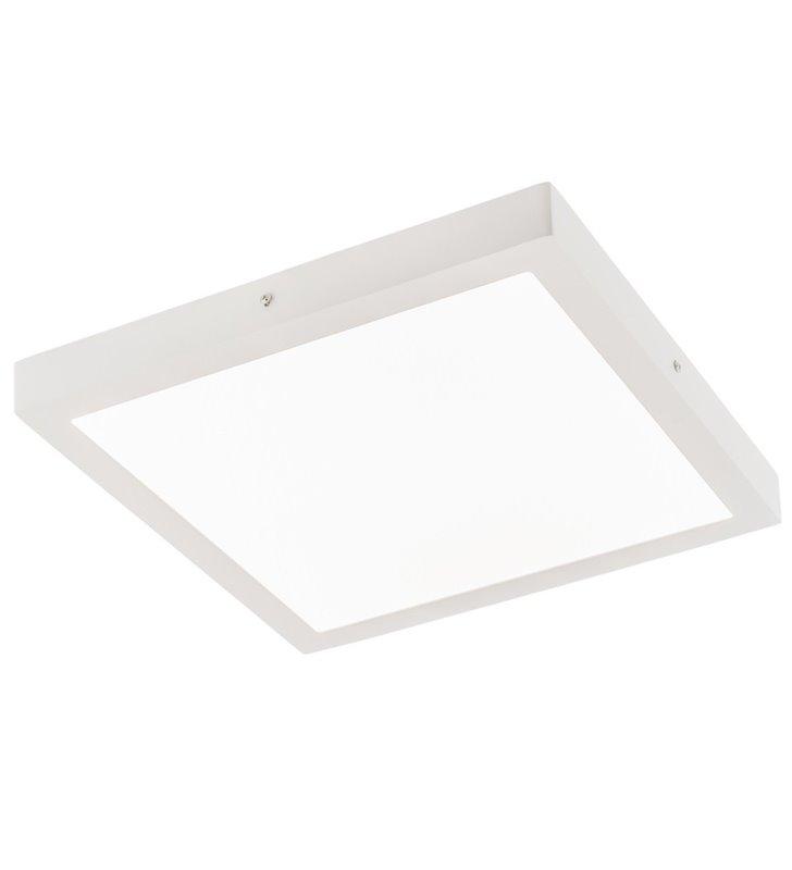 Plafon Glissy Square 40cm biały kwadratowy nowoczesny LED ciepła barwa