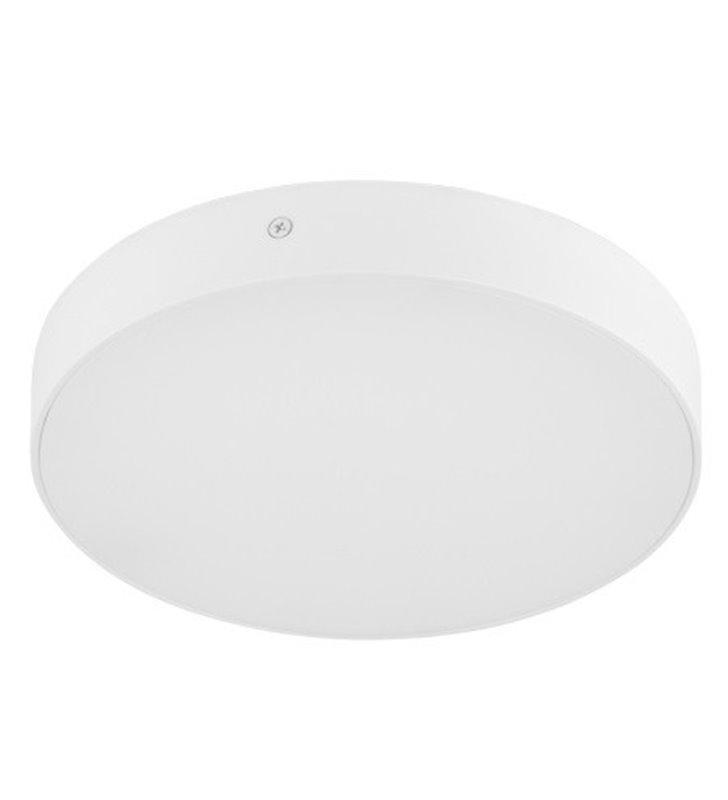 Okrągły biały plafon Testa Round 225 ciepła barwa światła