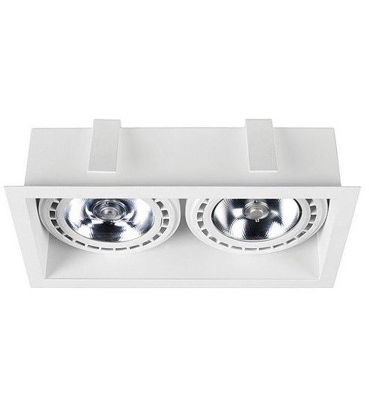 Oprawa podtynkowa Mod biała prostokątna 2 żarówki GU10 ES111