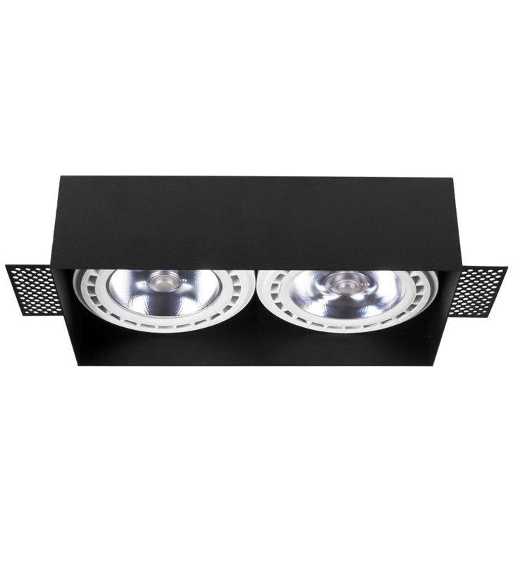 Lampa podtynkowa Mod Plus czarna na 2 żarówki GU10 ES111