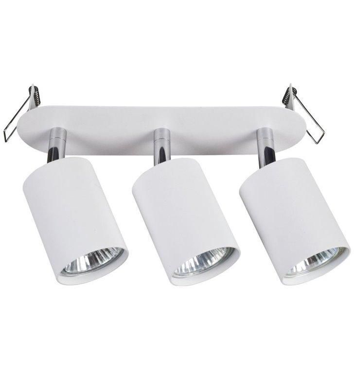Potrójna lampa sufitowa do wbudowania Eye Fit biała nowoczesna