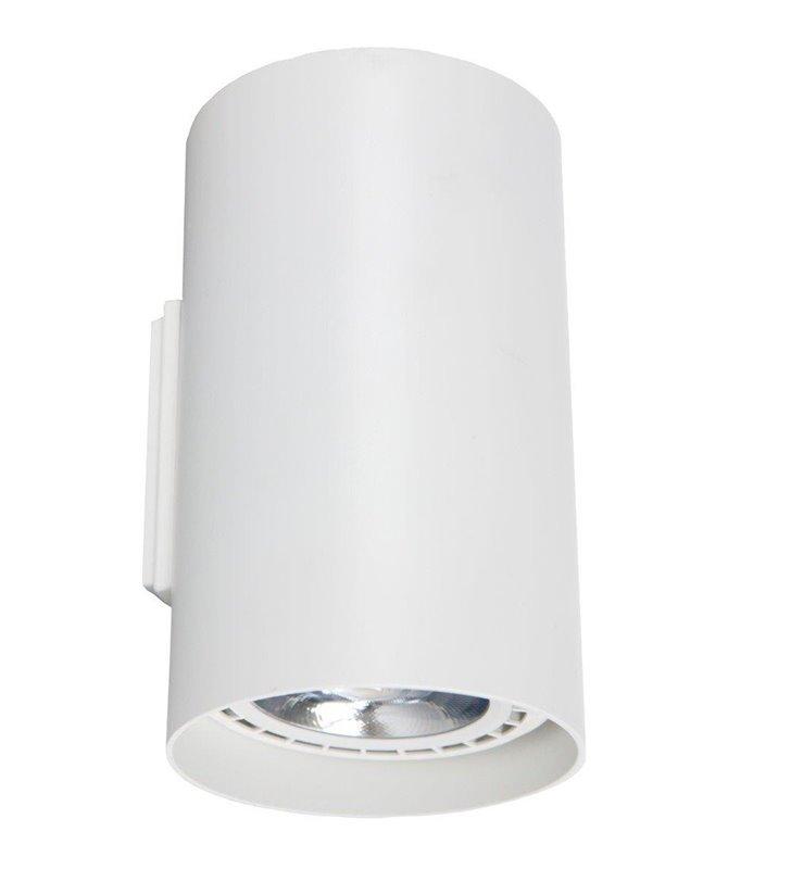 Kinkiet Tube biały z dwukierunkowym strumieniem światła styl nowoczesny techniczny
