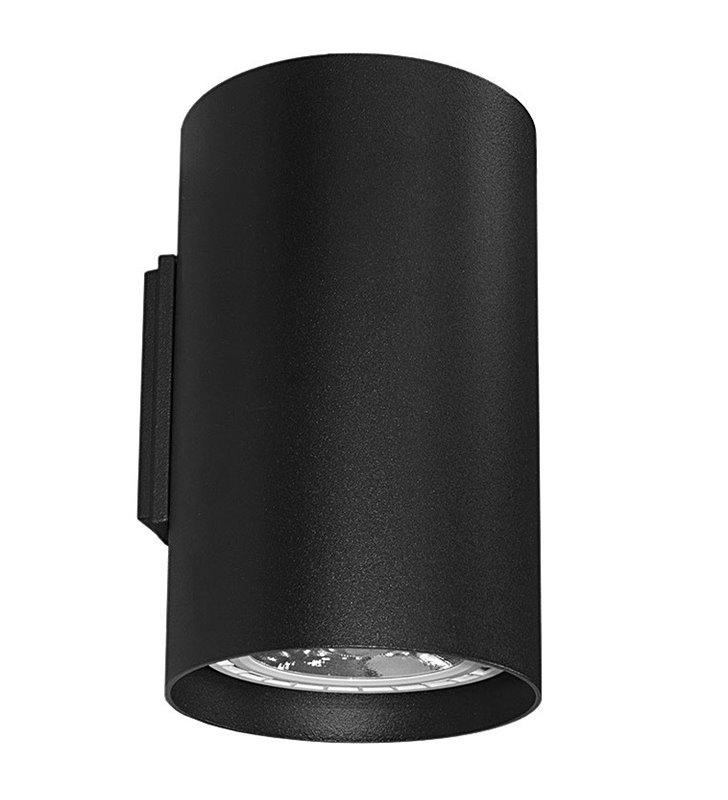 Lampa ścienna Tube w stylu technicznym industrialnym strumień światła góra dół