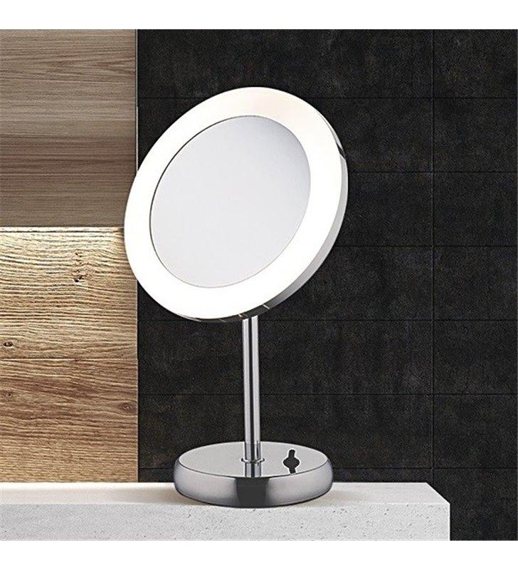 Przenośne lustro z oświetleniem Makeup LED z 3 krotnym powiększeniem