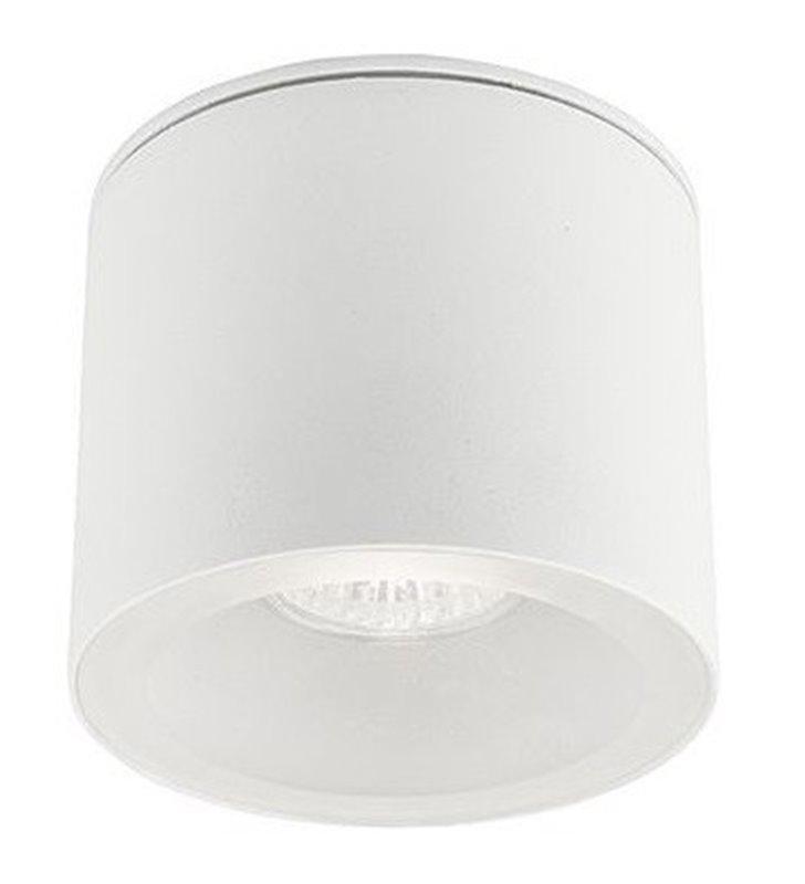Mały biały plafon zewnętrzyny Hexa okrągły żarówka GU10 IP44
